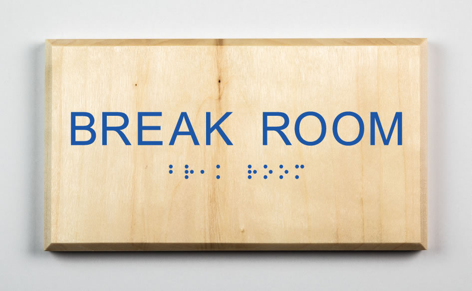 Break Room Sign, blue