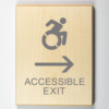 Eco-friendly Accessible Exit to Right Sign, Using Modified ISA