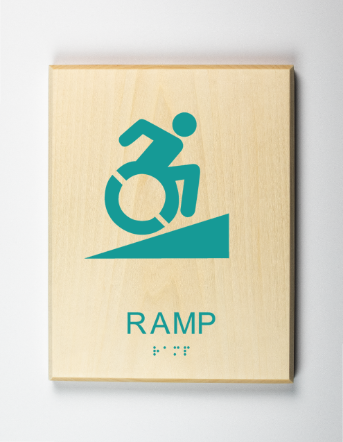 Eco-friendly Accessible Ramp Sign