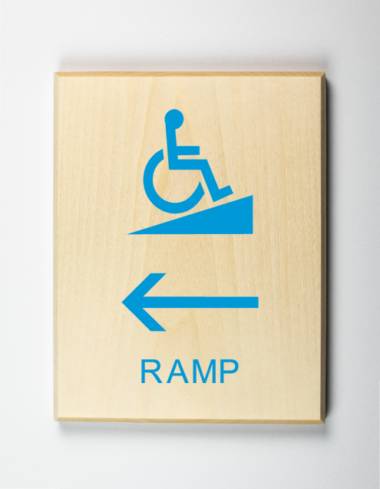 Eco-friendly Ramp to Left Sign