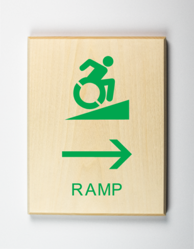 Eco-friendly Handicap Accessible Ramp to Right Sign, Using Modified ISA