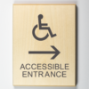 Eco-friendly Accessible Entrance to Right Sign