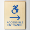 Accessible Entrance to Right Sign Using Modified ISA