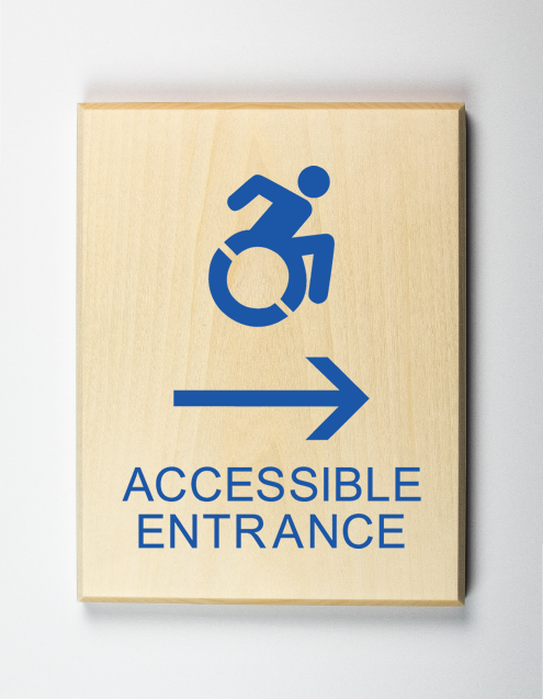 Accessible entrance to right using modified ISA-blue