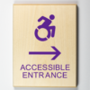 accessible entrance signs - to the right