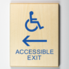 Eco-friendly Accessible Exit to Left Sign