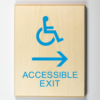 Handicap accessible exit signs - to the right