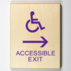 Accessible Exit Sign