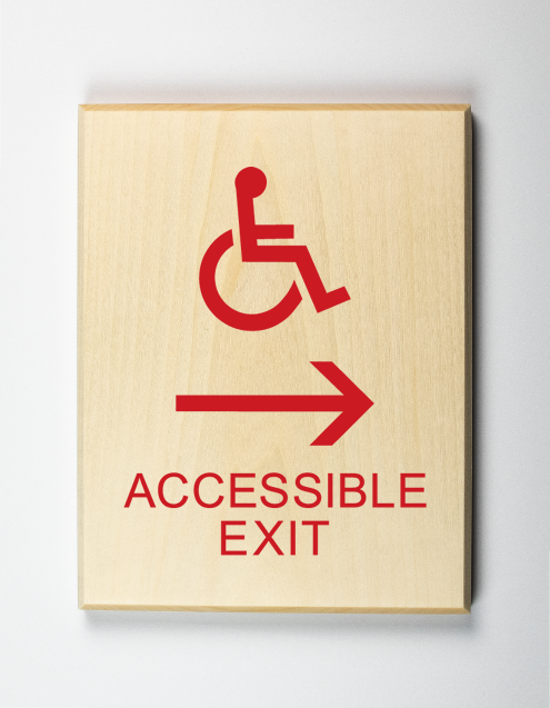 Eco-friendly Accessible Exit to Right Sign
