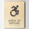 "Eco-friendly ""area of refuge"" sign"