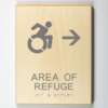 ADA Sign, Area of Refuge to Right Sign, Using Modfied ISA