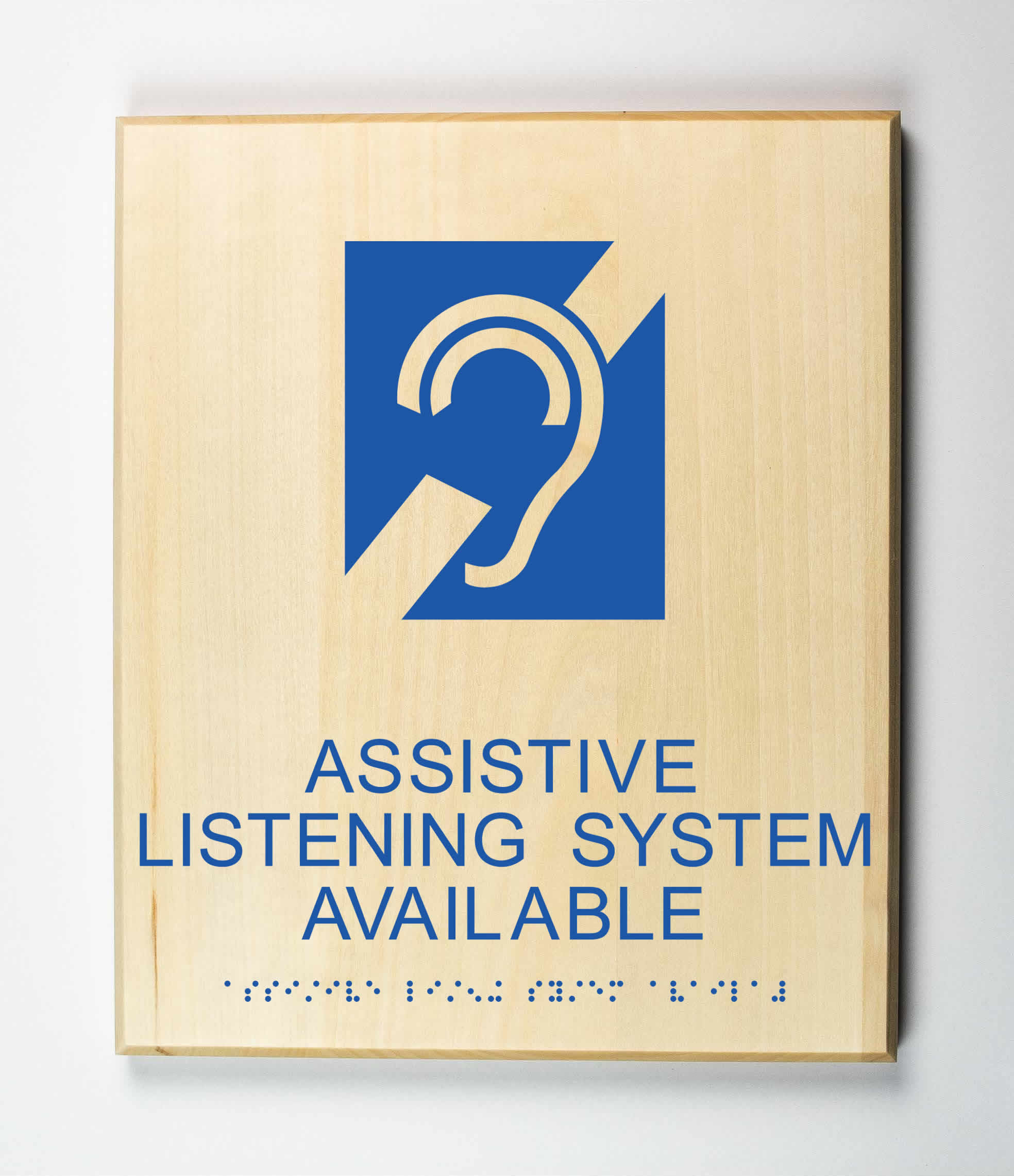 Assistive Listening System Sign, blue