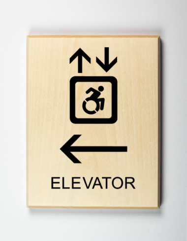 Accessible Elevator to Left Sign