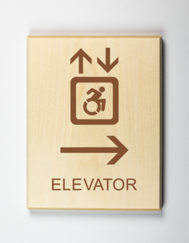 Accessible Elevator to Right Sign