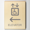 Elevator to Left Sign