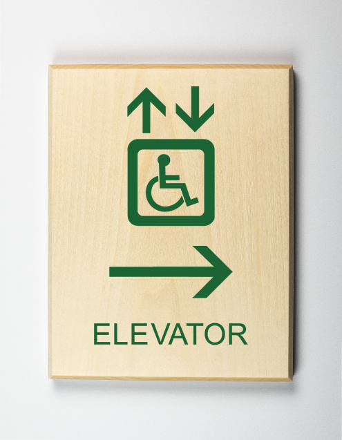 Elevator to Right Sign