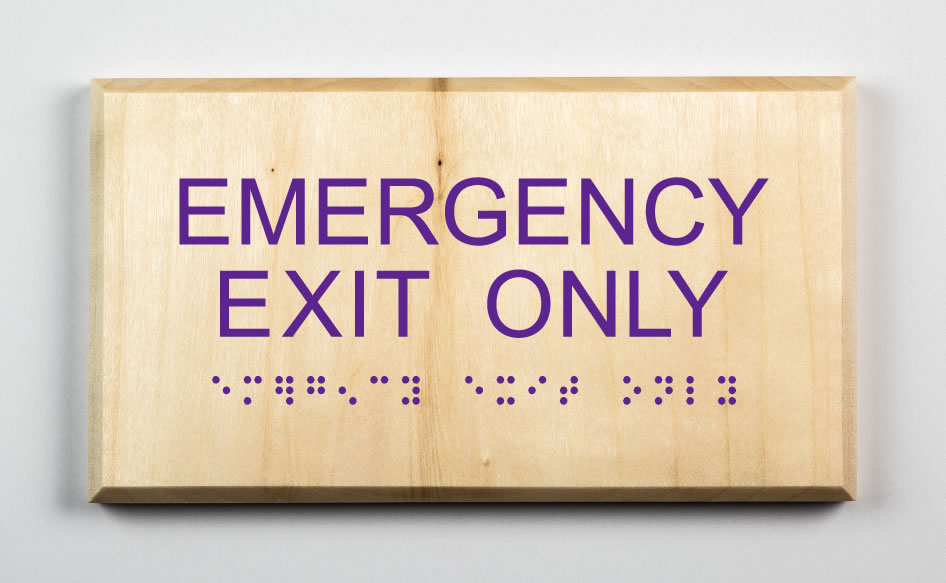 Emergency Exit Only Sign, purple