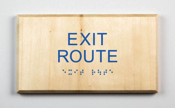Eco-friendly Exit Route Sign