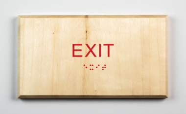 Sustainable Exit Sign