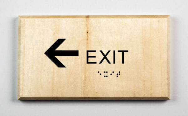 Eco-friendly Exit to Left Sign