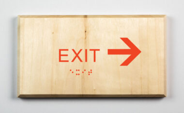 Eco-friendly Exit to Right Sign