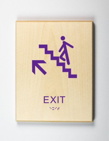 Exit Upstairs Sign