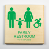 Family Restroom Sign, Accessible, Using Modified ISA