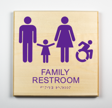 Handicap Family restroom sign