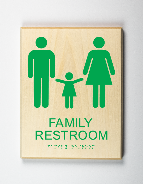 Family Restroom Sign, kelly