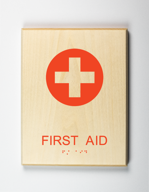 Eco-friendly First Aid Sign