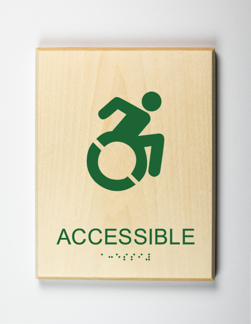 Accessible Element Sign, forest