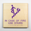 ADA Sign, Safety Fire, In Case of Fire Use Stairs, Environmentally Friendly