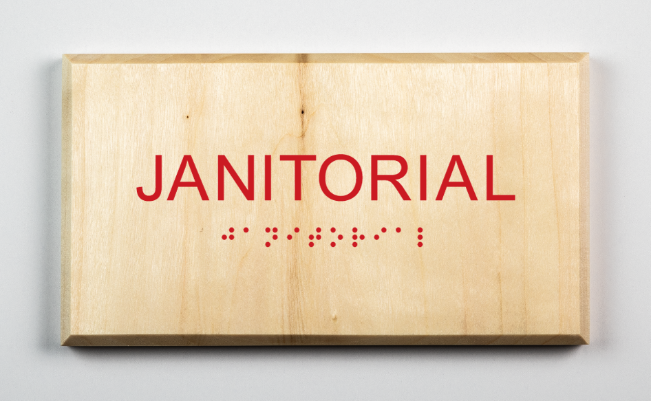 Janitorial Sign, red