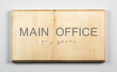Sustainable Main Office Sign