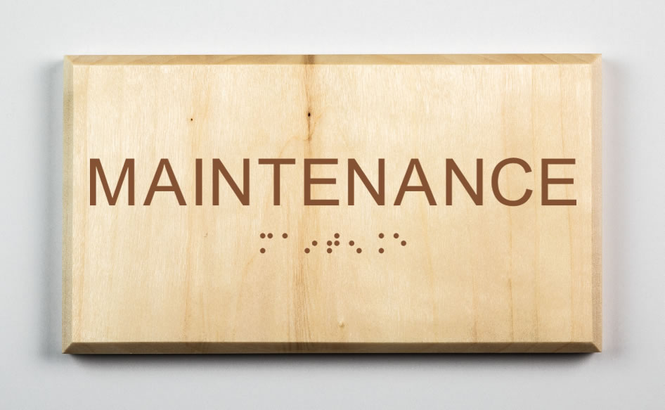 Maintenance Sign, brown