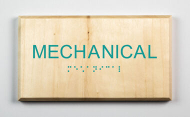 Mechanical Room Sign