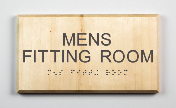Mens Fitting Room ADA Sign