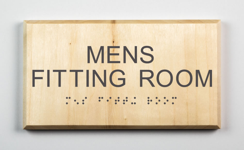 MENS FITTING ROOM SIGN, dark grey