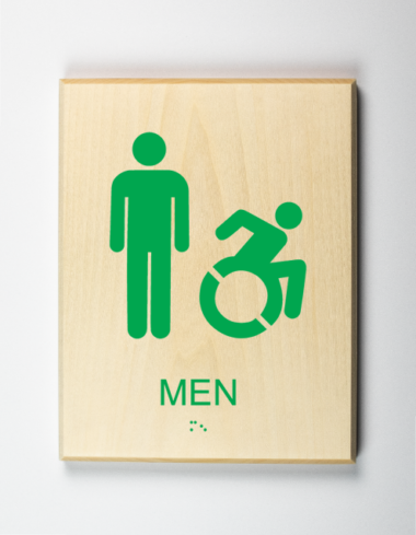 Mens Restroom Sign using modified ISA