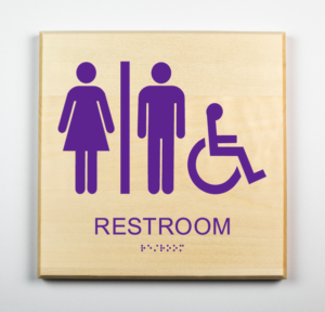 Green Dot Sign - Gender Neutral Restroom Sign