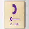 Phone Signage - to the left