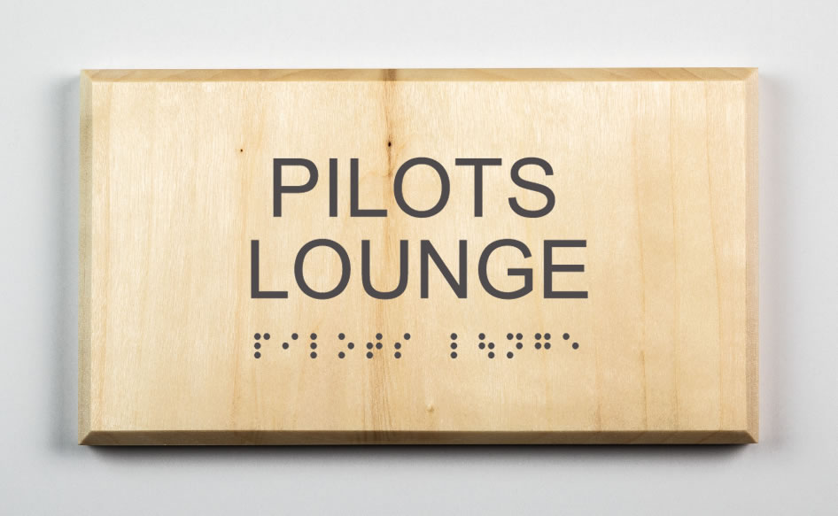 Pilots Lounge Sign, dark grey