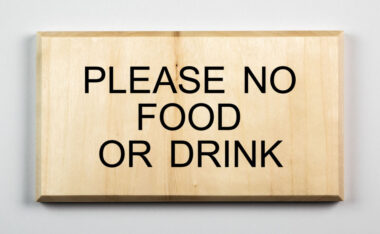 Eco-friendly Please No Food or Drink Sign