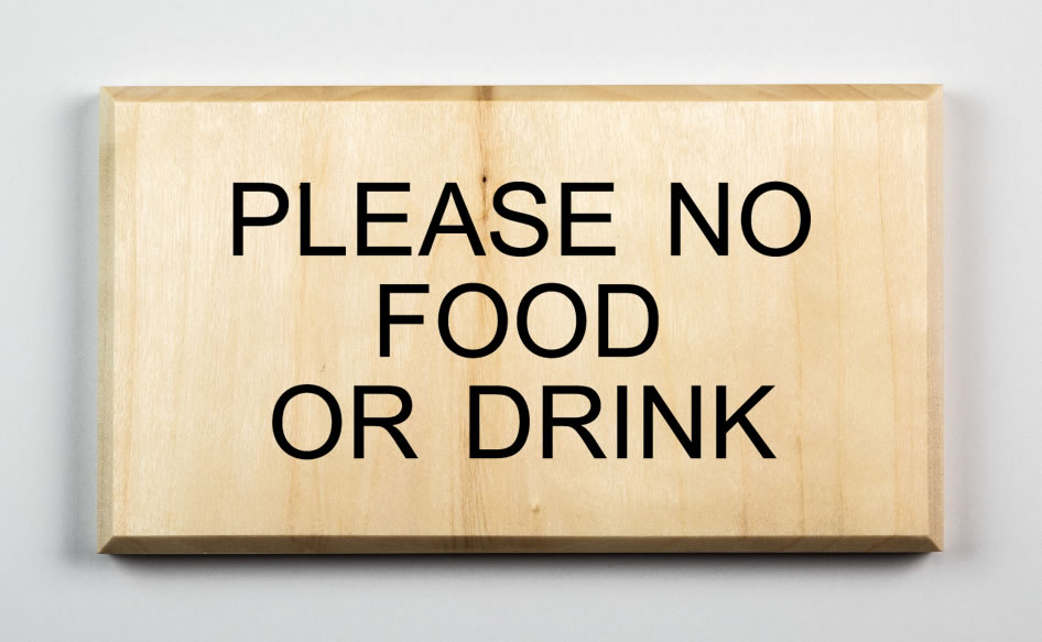 Please No Food or Drink Sign, black