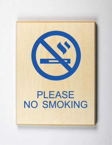 Please No Smoking Sign, choose your solid color