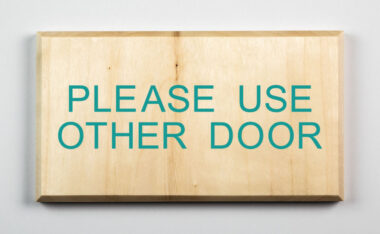 Eco-friendly Please Use Other Door Sign