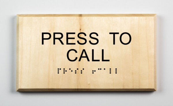 Eco-friendly Press to Call Sign