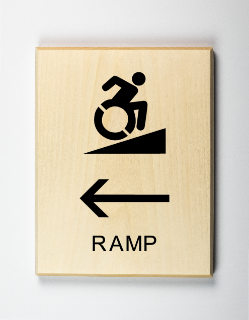 Eco-friendly Handicap Accessible Ramp to Left Sign, Using Modified ISA