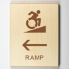 Ramp Signage - the the left