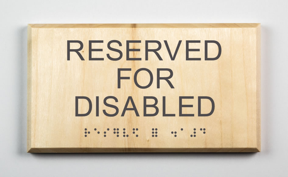 Reserved for Disabled Sign -dark-grey